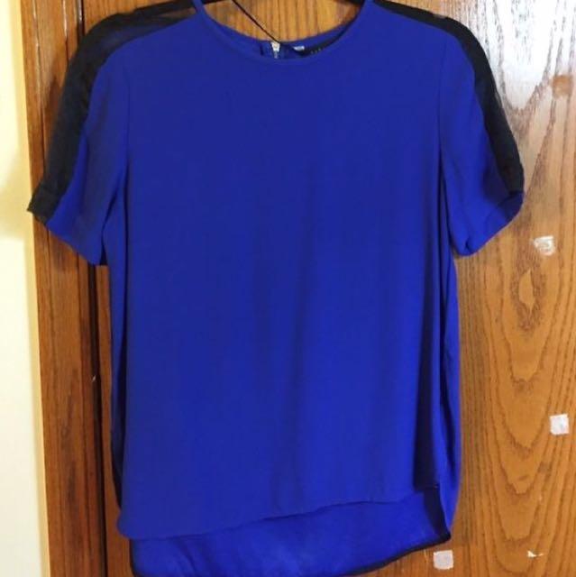 Cobalt Blue blouse