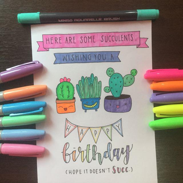 Customizable Birthday Cards Design Craft Art Prints On Carousell