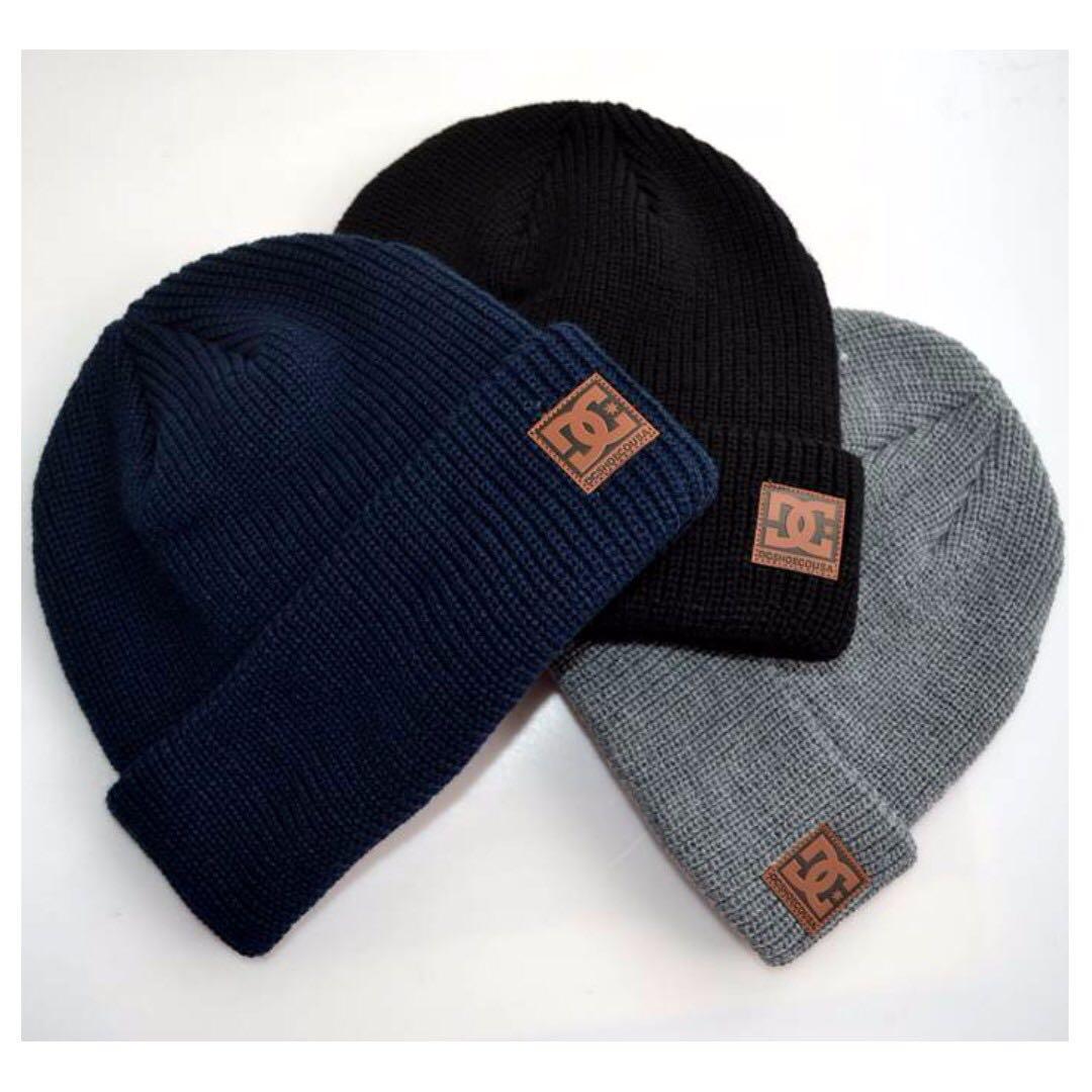 D C 皮標 毛帽  Wool hat