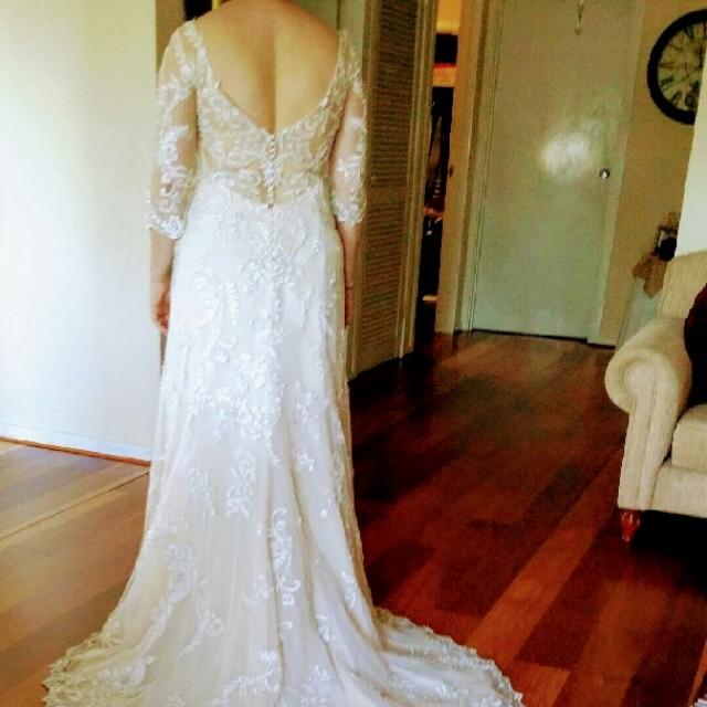 Designer Wedding Dress by Maggie Sottero Sz 12