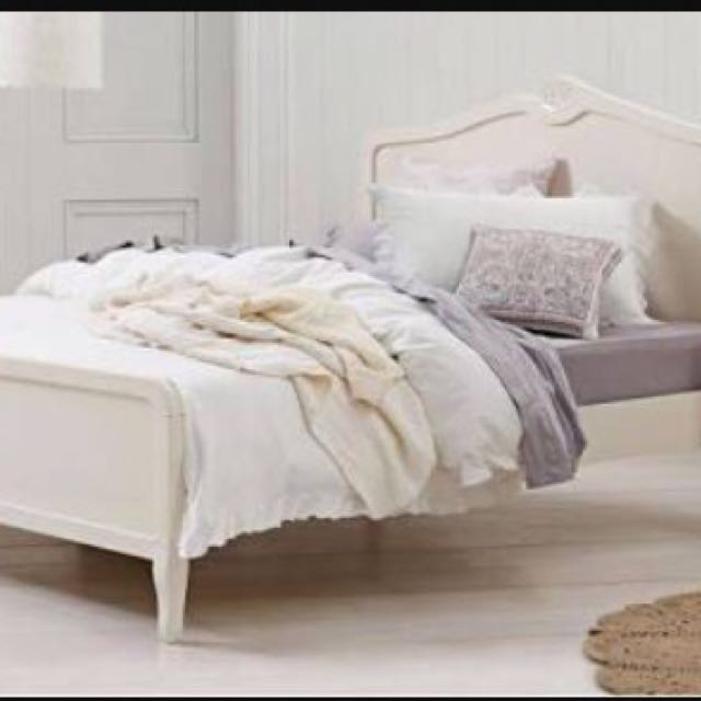 Domayne 'Amore' Queen bedroom suite -bed frame and 2 side tables