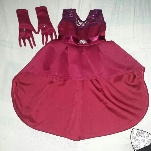 Dress Big bow/Long Back