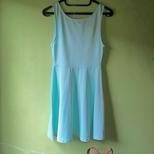 Dress H&M Hijau Neon