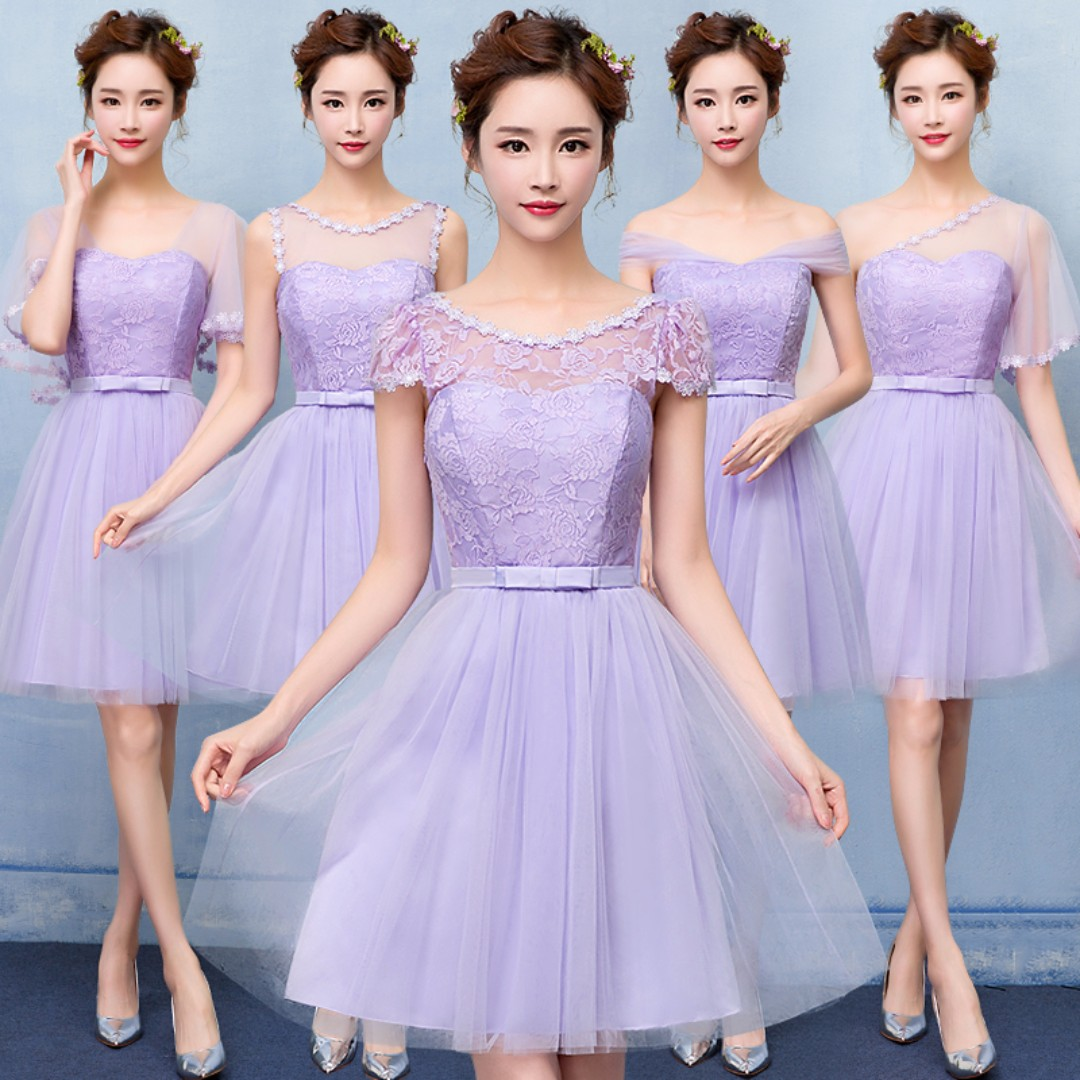 9f154c5607a63 Dusty Pink   Purple   Pink   Champagne   Grey  Bridesmaid Tube   Off ...