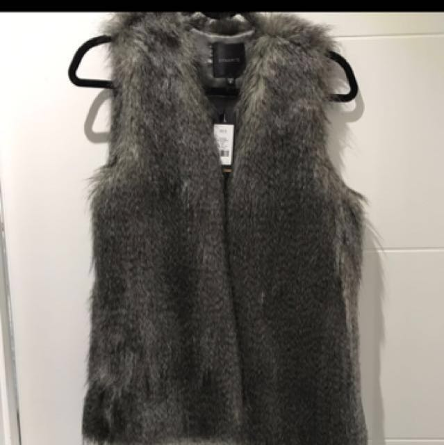 Dynamite Faux Fur Vest #blackfriday50