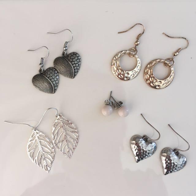 Earrings 5 pairs