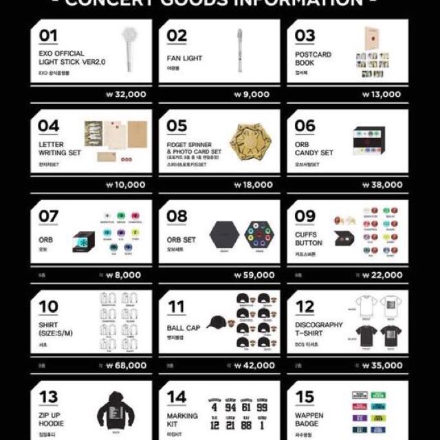 Cash Car Rentals >> EXO The Elyxion Concert Goods, Entertainment, K-Wave on Carousell