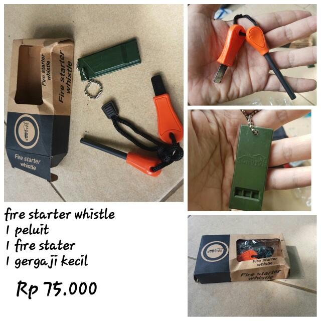 Fire starter whistle