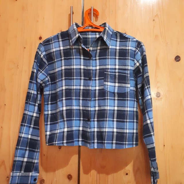Flanel crop top like new
