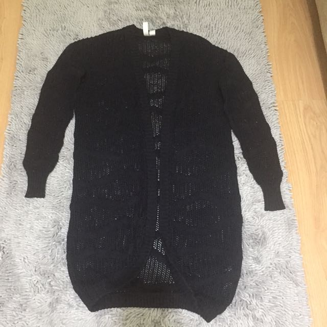 Forever21 Black Knitted Cardigan Small