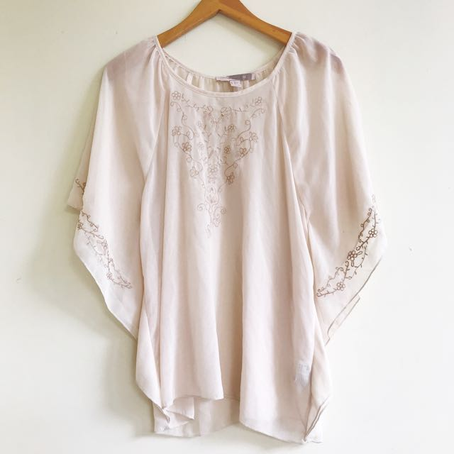 Forever21 chiffon flare top