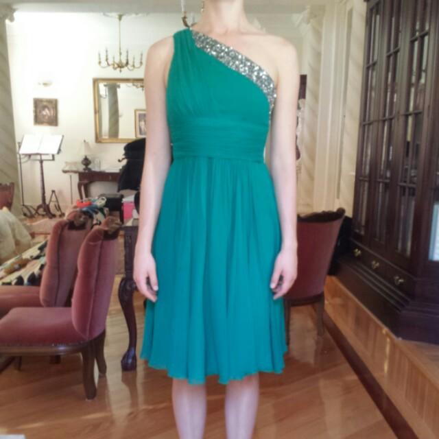 Formal emerald dress