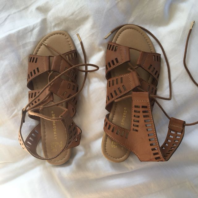 """Gladiator/Roman lace up sandals"
