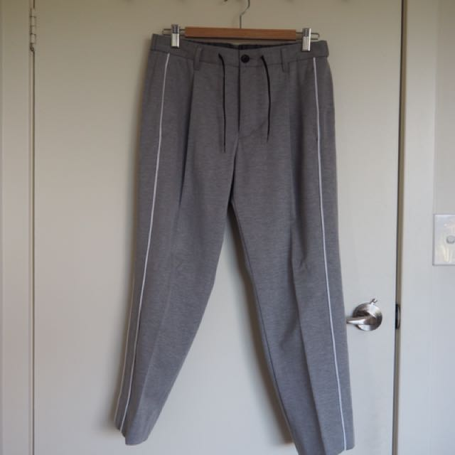 Hare (ハレ) Grey Pants With Line Detail Size S