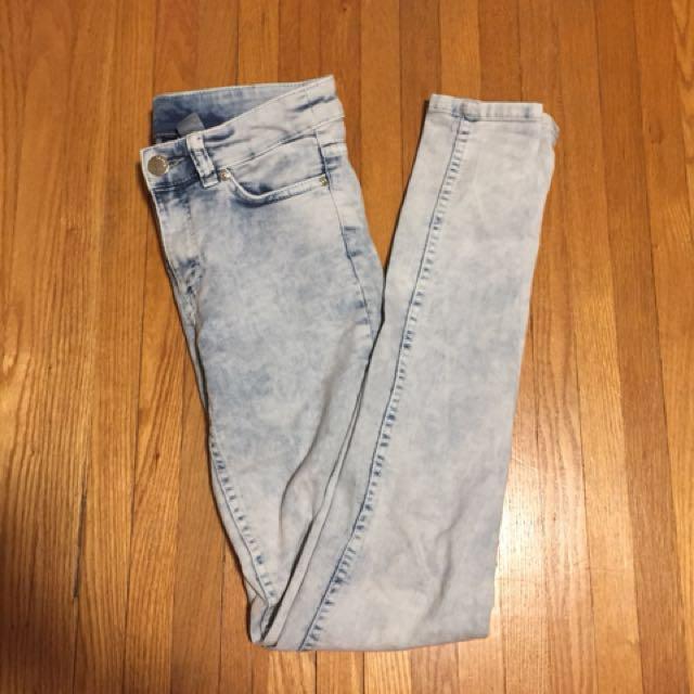 H&M Divided Acid Wash Jeans