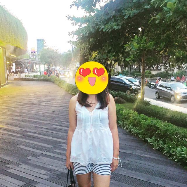 H&M V White Blouse