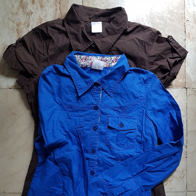 Hotkiss Blue Long Sleeves Polo and Brown Short Sleeves Polo