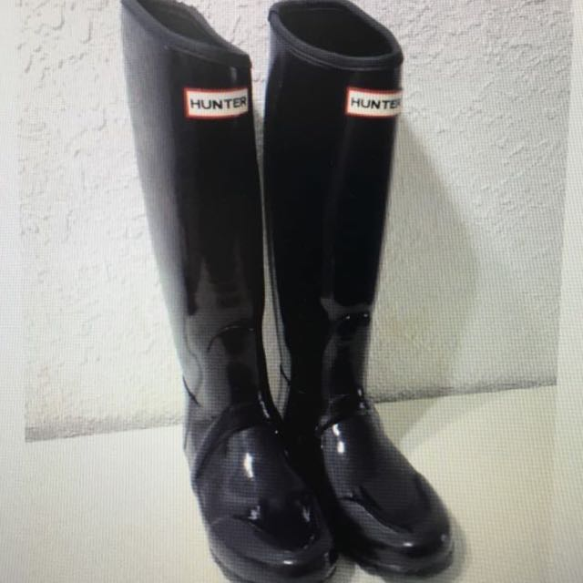 hunter 長筒雨靴雨鞋 黑 23.5 24 37 38