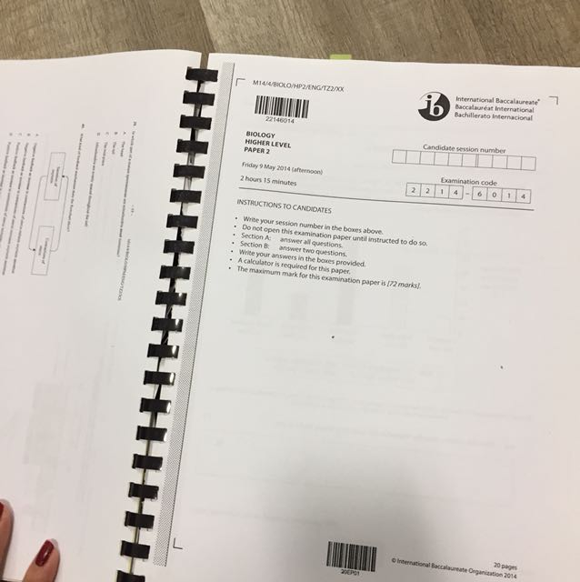 IB HL biology past year papers binded, Books & Stationery