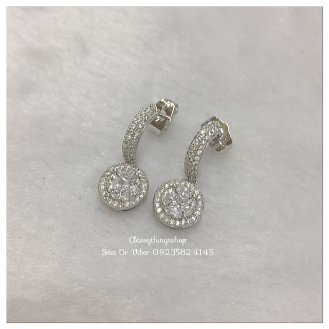 Illusion Diamond Drop Earrings
