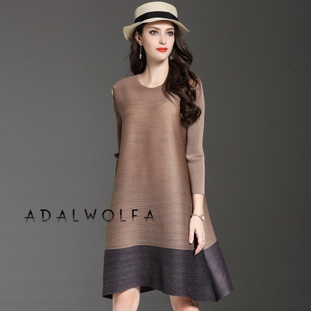 Issey Miyake Inspired Adalwolfa Pleat Dress Free Size Women S Fashion Clothes Skirts On Carou