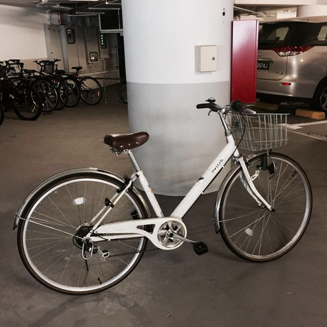 Japanese bicycle for men with free built on lock and basket