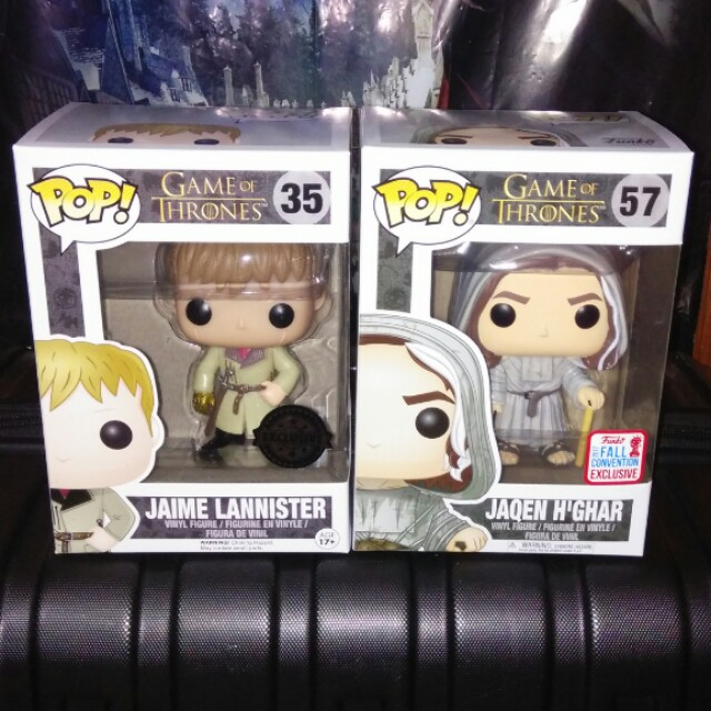 (ON HAND) Jaqen H'Ghar & Jaime Lannister Gold Hand Game of Thrones Exclusive Funko Pop