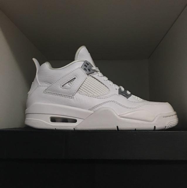 separation shoes 03d3e 69897 Jordan 4 Pure Money Kids Size