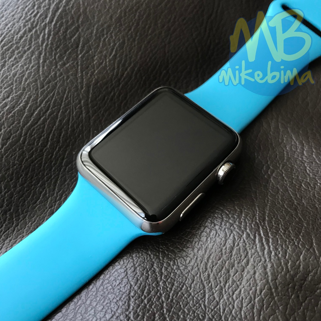 JUAL Apple WATCH 42MM┃Stainless Steel┃BLUE Sport Band┃TT iPhone 7/iPad Pro