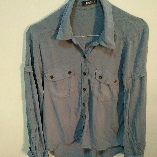 Kemeja biru (blue shirt)