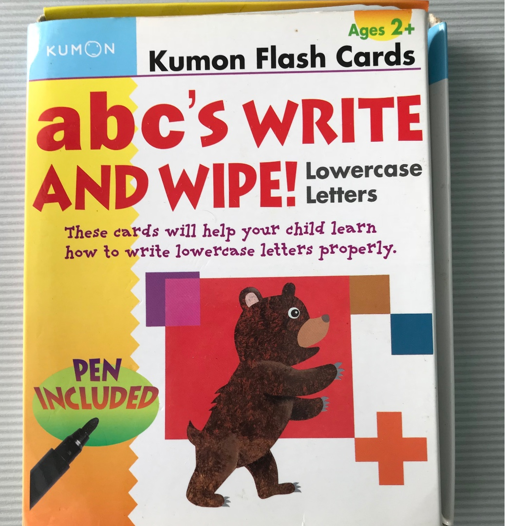 Kumon Workbooks Grow To Know Lowercase Letters Daftar Harga Creative Doodling 2 Books Flash Cards Abcs Write Wipe Stationery Childrens On Carousell