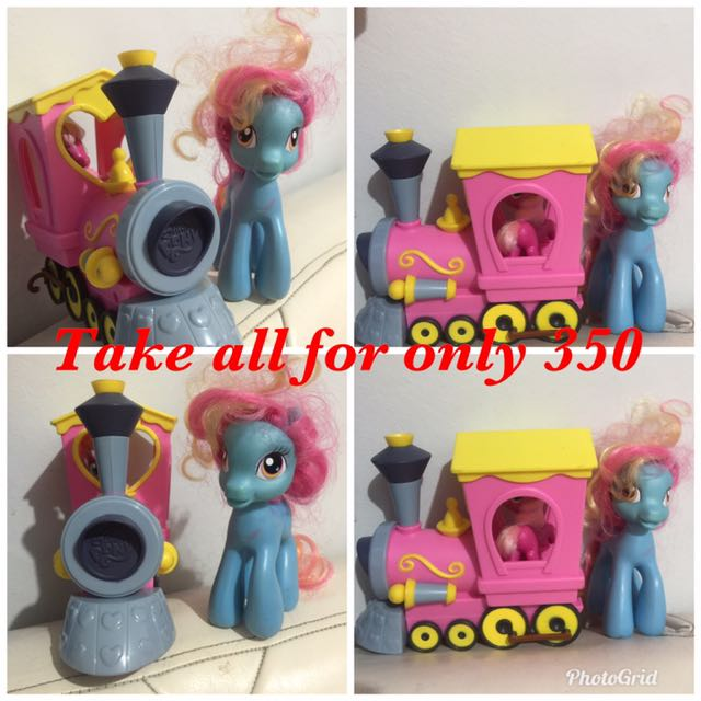 Little pony and train
