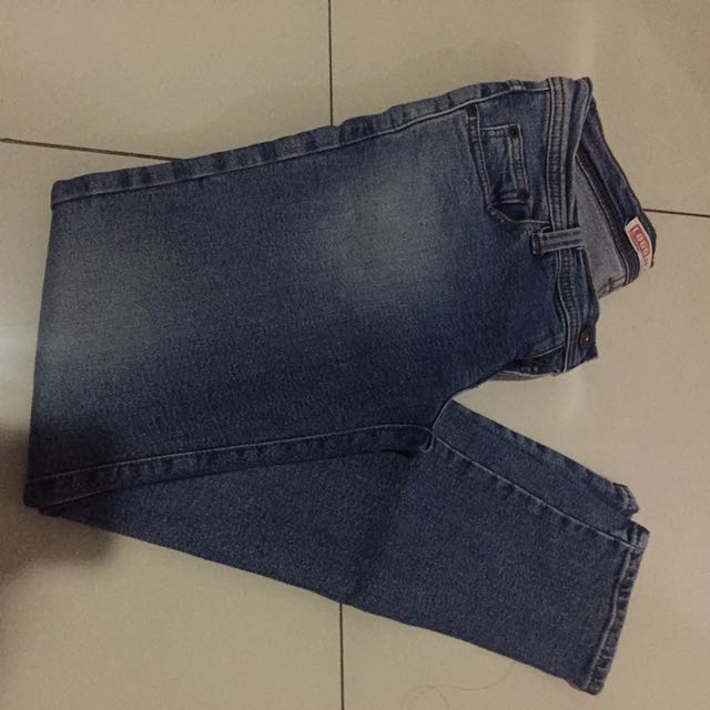 Logo jeans pants celana jins original authentic long panjang biru blue