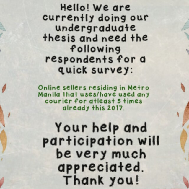 Looking for respondents
