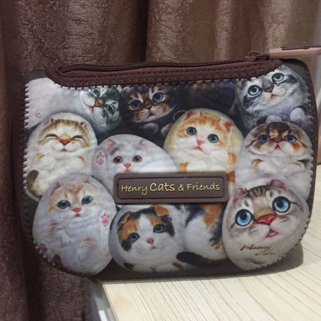 Makeup Pouch Henry Cats & Friends