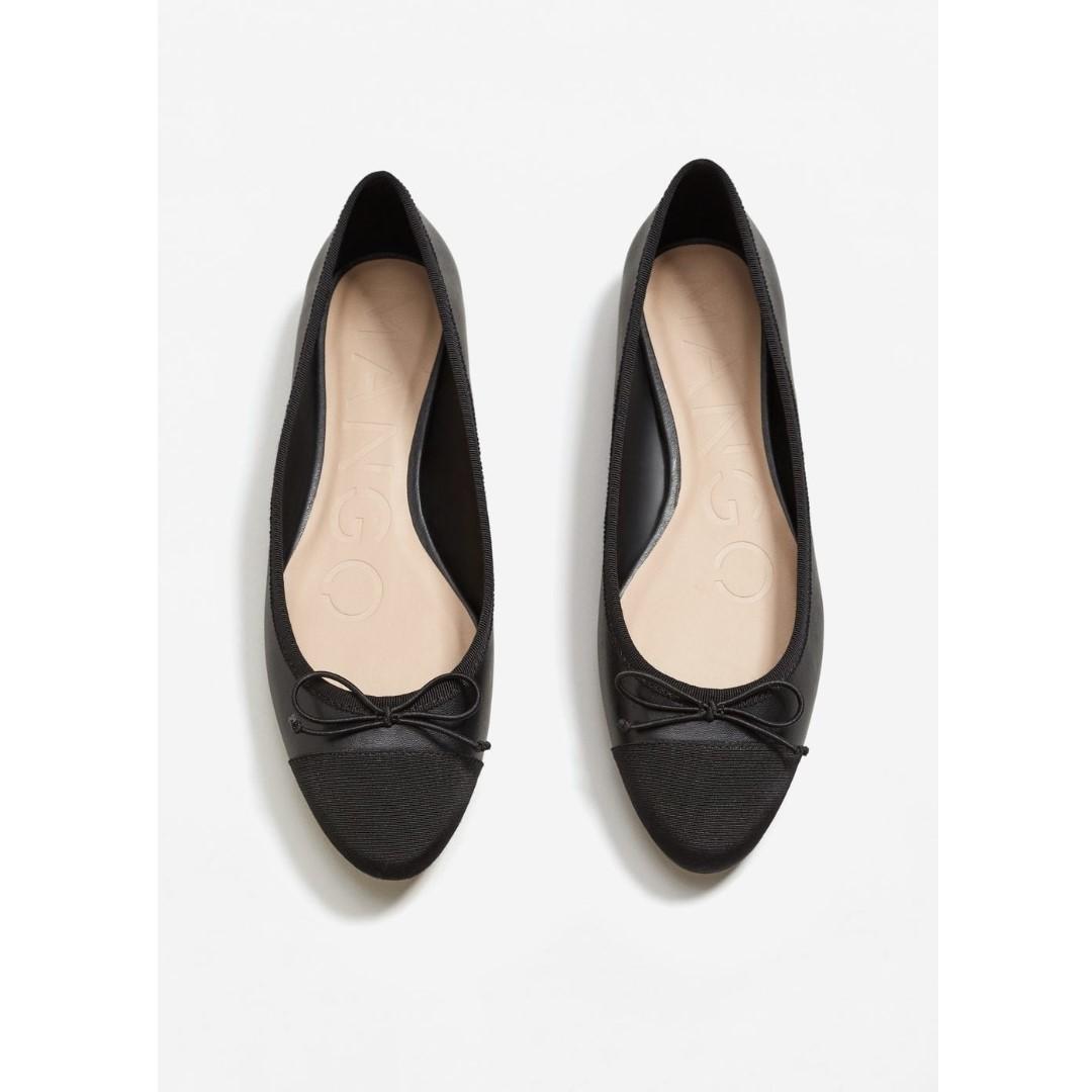 Mango Bow Ballerina Flats