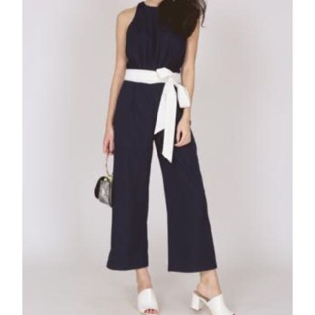 c6c2a01e734 Mds Bohoo Tie Waist Strappy Cullotte Jumpsuit