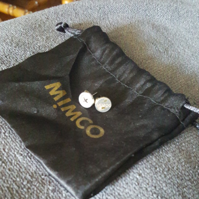 Mimco button up earrings