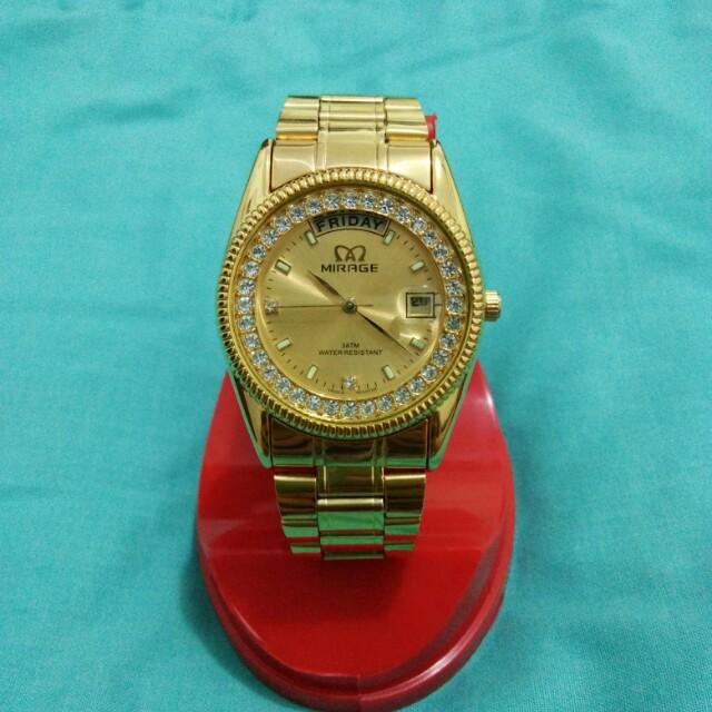 Mirage Gold Watch