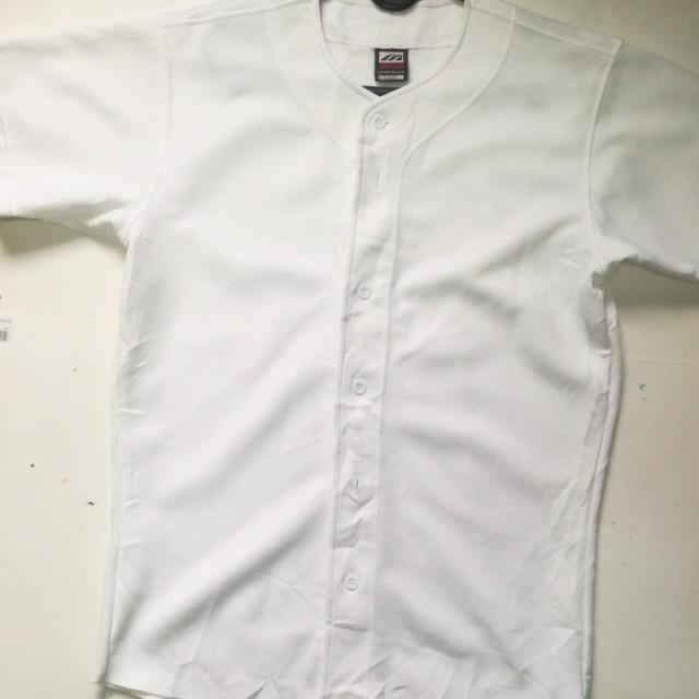 best service 52111 f540d Mizuno plain baseball jersey
