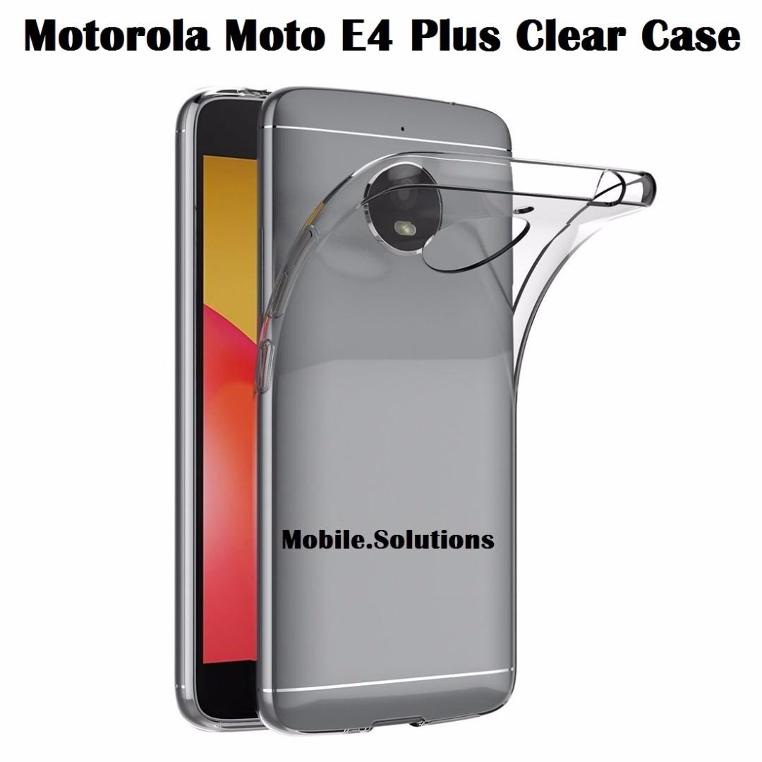 premium selection e3815 e3901 Motorola Moto E4+ Plus Clear / Transparent TPU Case