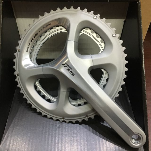 d84d7161401 New: Shimano 105 5800 11-Speed Double Chainset Silver 53-39T, Bicycles &  PMDs, Bicycles on Carousell
