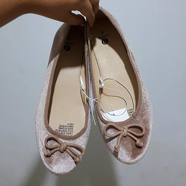 Nude Pink Ballet Flat Shoes