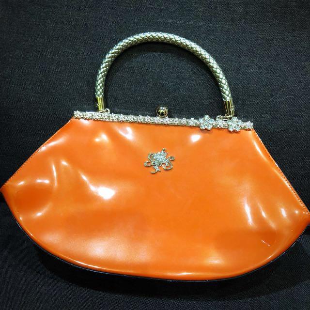 Orange Handbag (medium size)