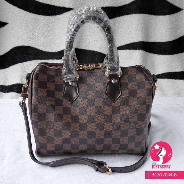 b8a04d87691c Overrun Louis Vuitton Speedy 25 Bandouliere Damier Ebene Bag