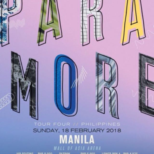 LF: Paramore tickets lower box or upper box please!