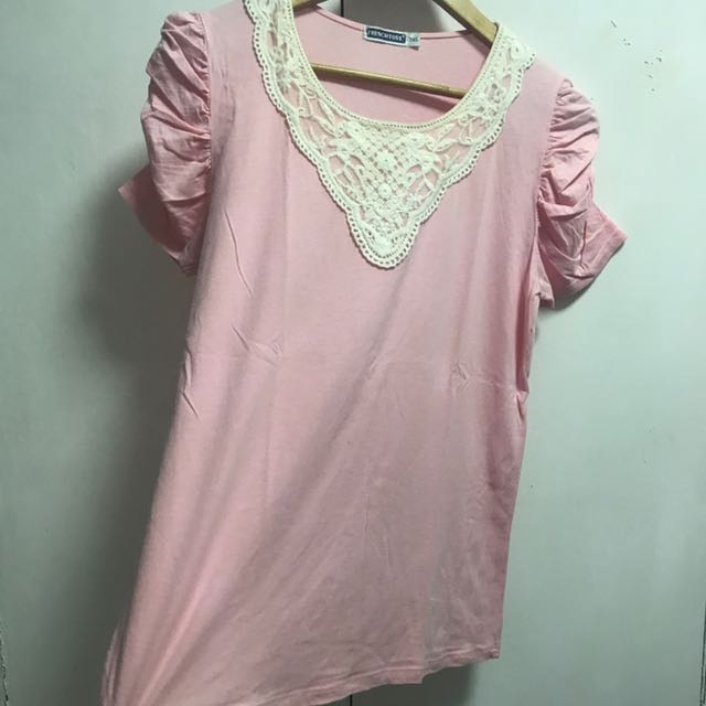 Pink girly top