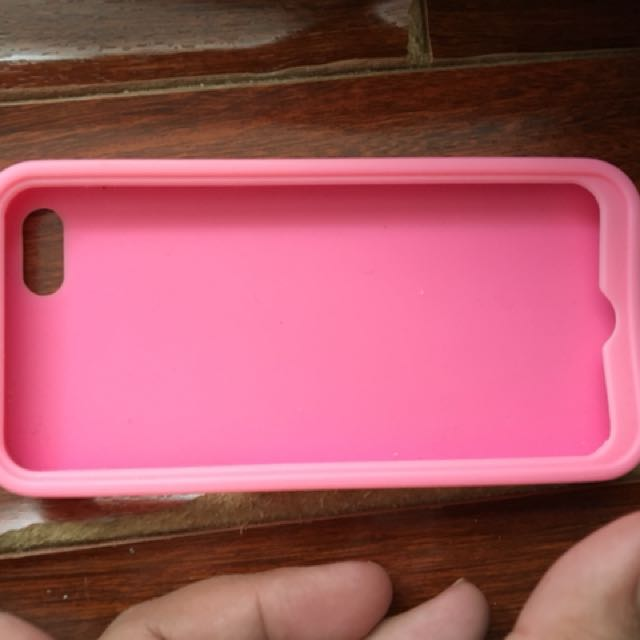 Pink iPhone 5/5s/SE silicone case