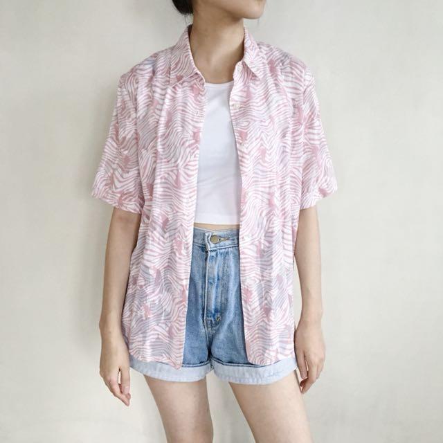 Pink Zebra Shirt