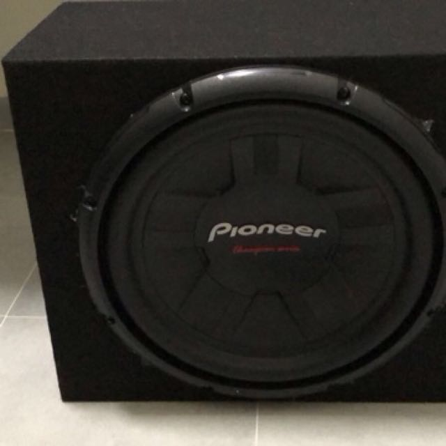"""Pioneer 12"""" Champion Series Subwoofer, Car Accessories on"""